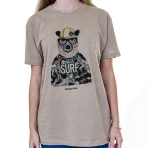 Camiseta bear surfer